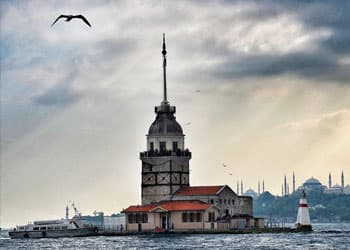 Dinner in Maiden's Tower in Istanbul